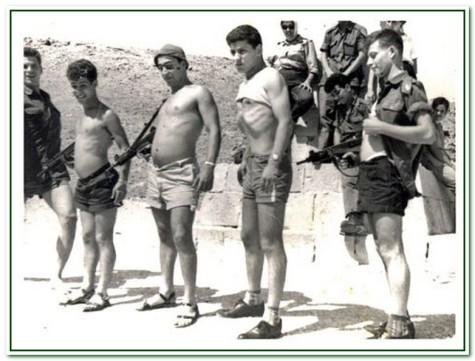 להקת הנחל 1960. מימין לשמאל אהרלה קמינסקי, חנן גולדבלט, פולי פופיק, ארנון ואמנון ברנזון